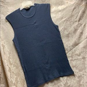 Vintage 90's Structure Ribbed Sleeveless Shirt